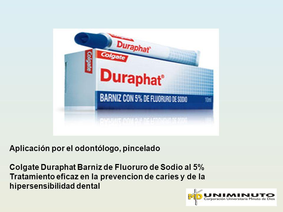 Aplicación por el odontólogo, pincelado Colgate Duraphat Barniz de Fluoruro de Sodio al 5% Tratamiento eficaz en la prevencion de caries y de la hiper