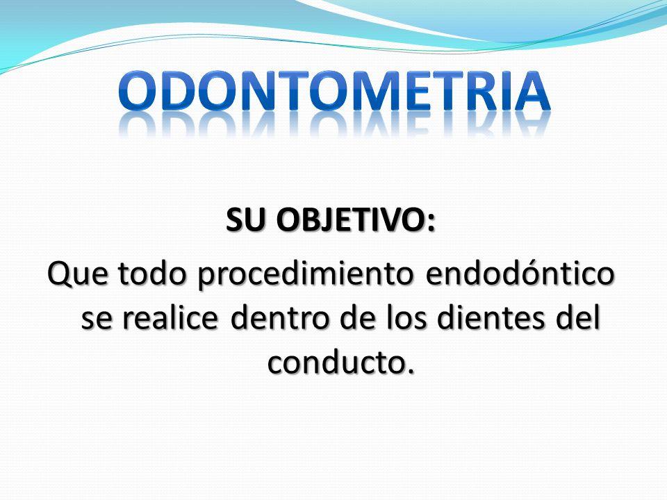 SU OBJETIVO: Que todo procedimiento endodóntico se realice dentro de los dientes del conducto.