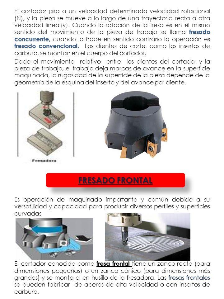 Por lo general el cortador gira en un eje perpendicular a la superficie de la pieza de trabajo y también se pueden inclinar para maquinar superficies cónicas o curvadas.