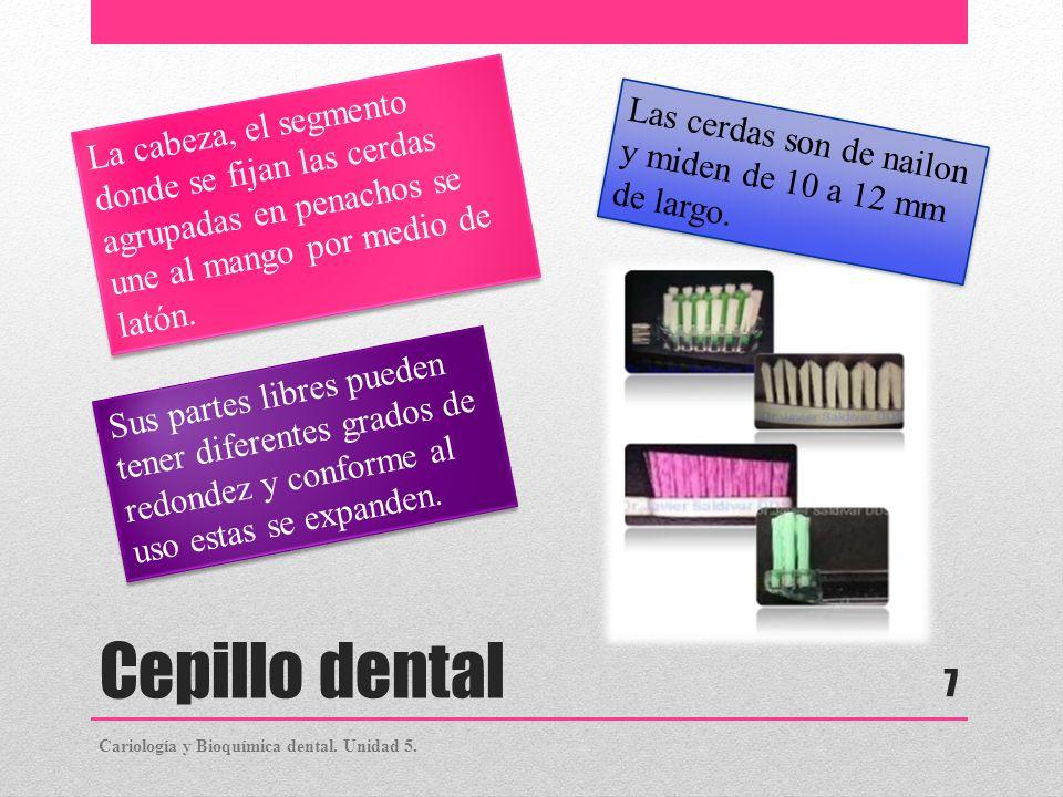 Cepillo dental Las personas que utilizan dentadura parcial removible y aparatos de ortodoncia removibles deben utilizar dos cepillos, uno para los dientes naturales y otro para las bandas y otras partes de metal (brackets).