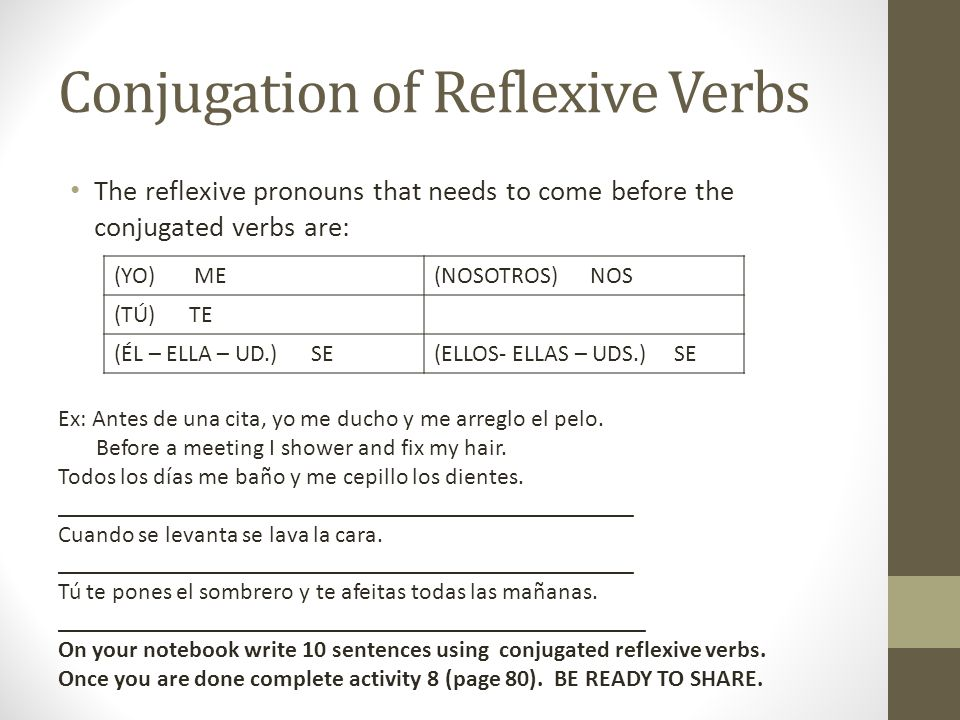 How does this work.First, you conjugate your verb normally, ignoring the ending SE.