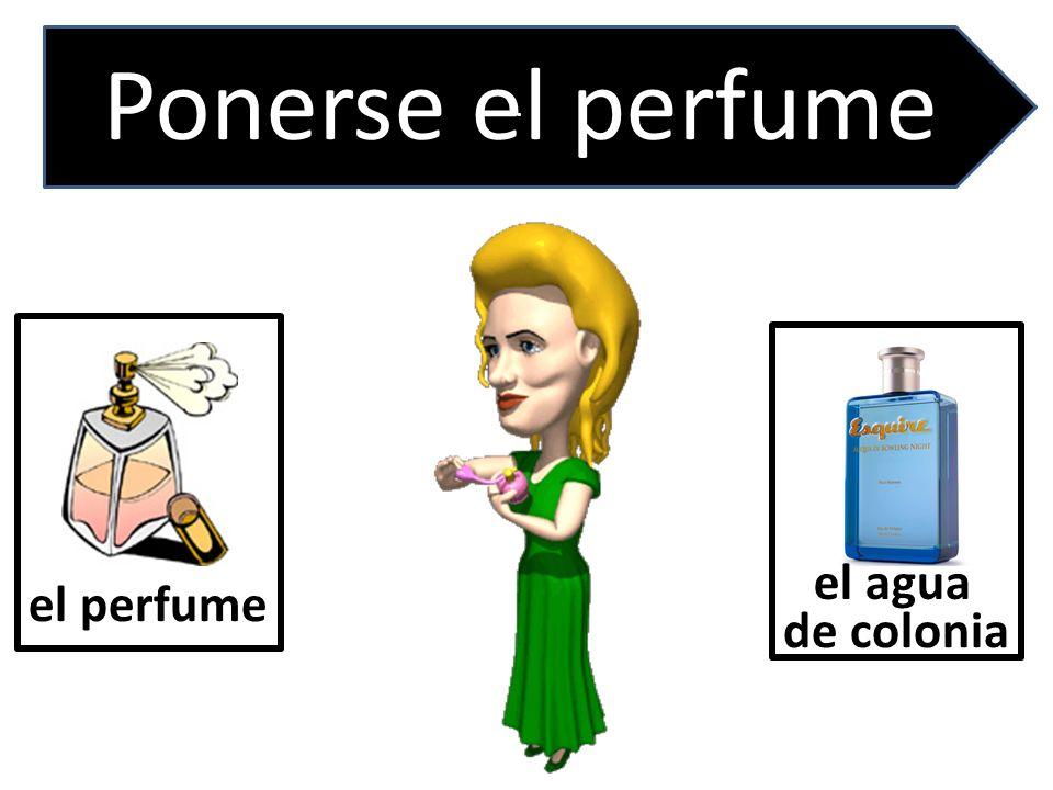 el perfume. Ponerse el perfume el agua de colonia
