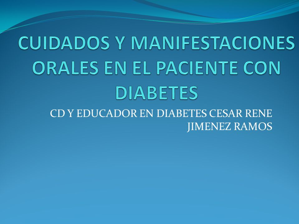 CD Y EDUCADOR EN DIABETES CESAR RENE JIMENEZ RAMOS