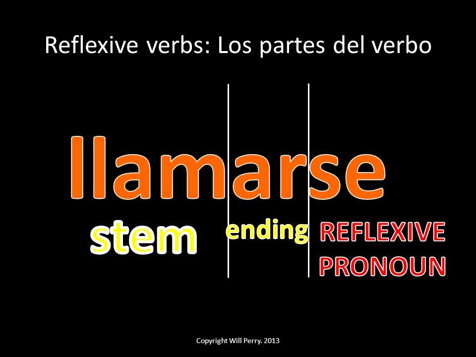 Reflexive verbs: Los partes del verbo Copyright Will Perry. 2013