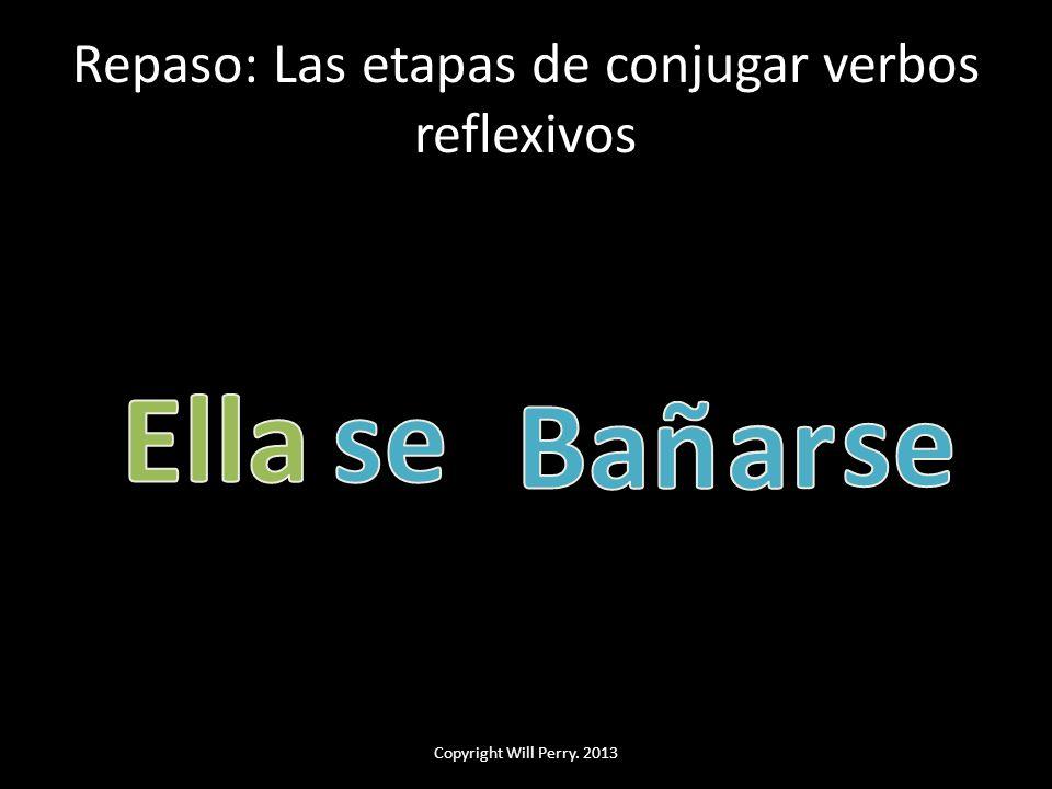 Repaso: Las etapas de conjugar verbos reflexivos Copyright Will Perry. 2013