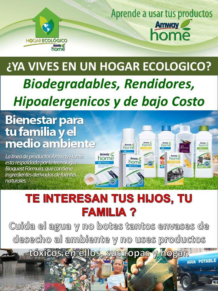 ¿YA VIVES EN UN HOGAR ECOLOGICO? Biodegradables, Rendidores, Hipoalergenicos y de bajo Costo