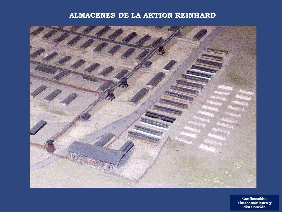 Confiscación, almacenamiento y distribución ALMACENES DE LA AKTION REINHARD