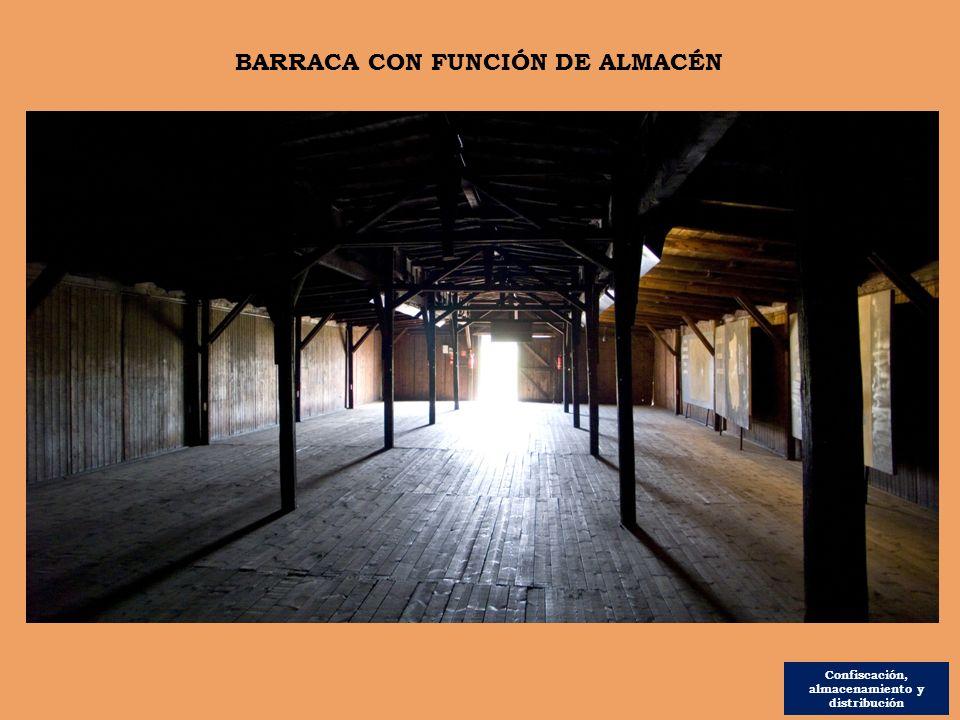 Confiscación, almacenamiento y distribución BARRACA CON FUNCIÓN DE ALMACÉN