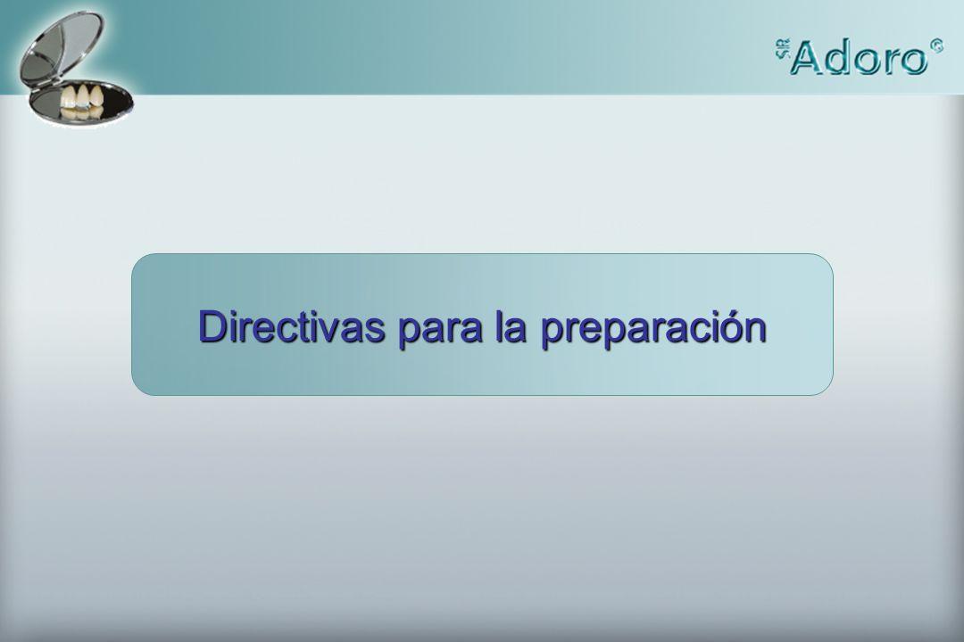 Directivas para la preparación