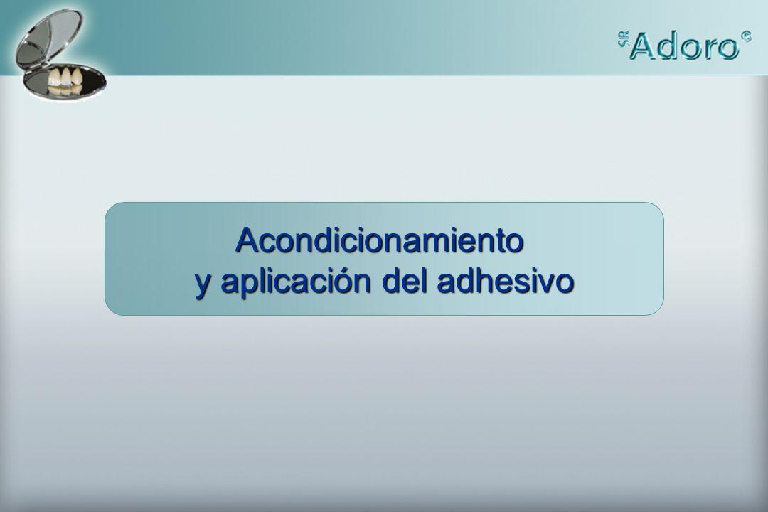 Acondicionamiento y aplicación del adhesivo