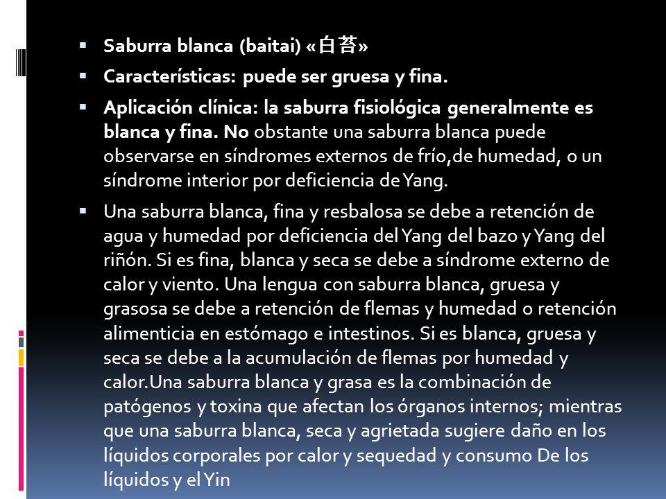 Saburra blanca (baitai) « » Características: puede ser gruesa y fina.