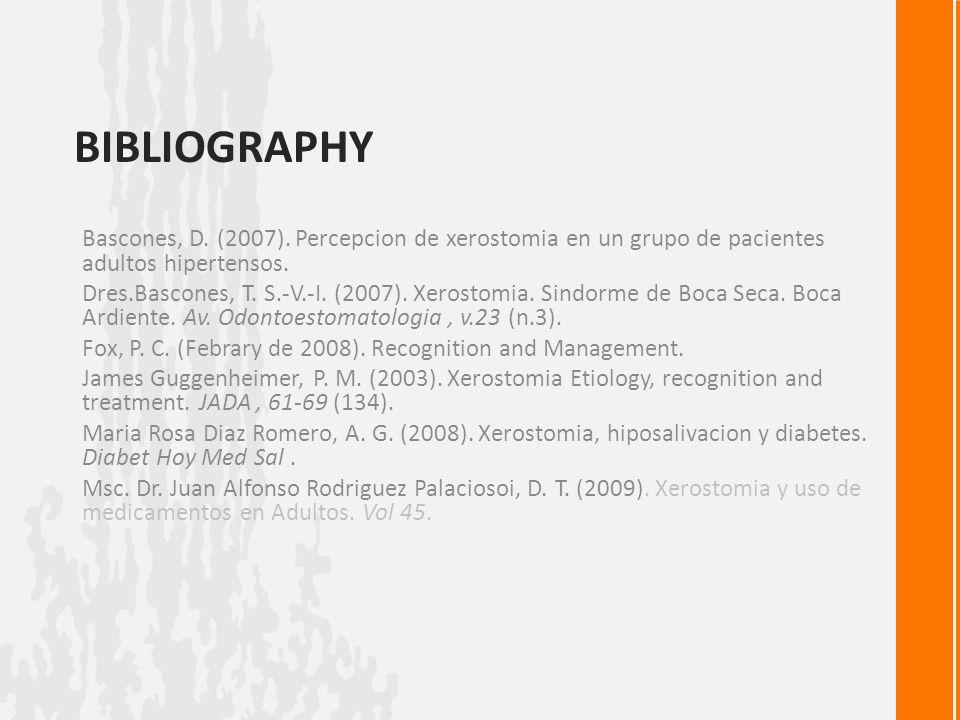 BIBLIOGRAPHY Bascones, D.(2007).