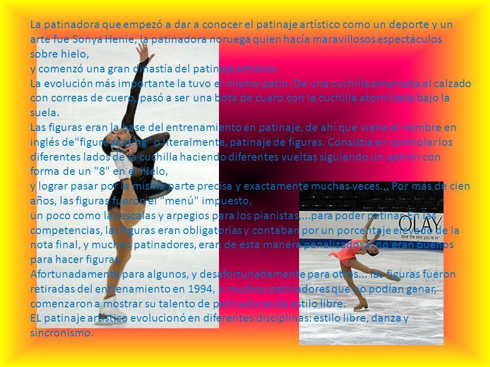 El patinaje artístico es uno de los deportes más antiguos que existen. Desde muchísimos años, las personas que viven en países donde hay hielo, o sea,