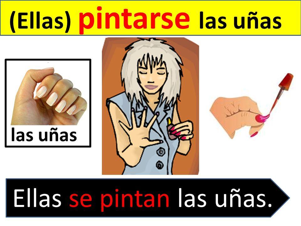 (Ellas) pintarse las uñas Ellas se pintan las uñas. las uñas