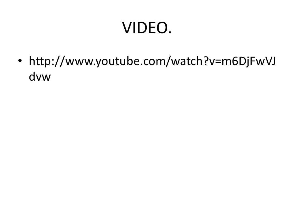 VIDEO. http://www.youtube.com/watch?v=m6DjFwVJ dvw