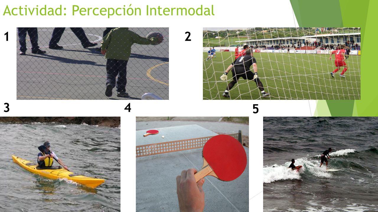 Actividad: Percepción Intermodal 12 34 5