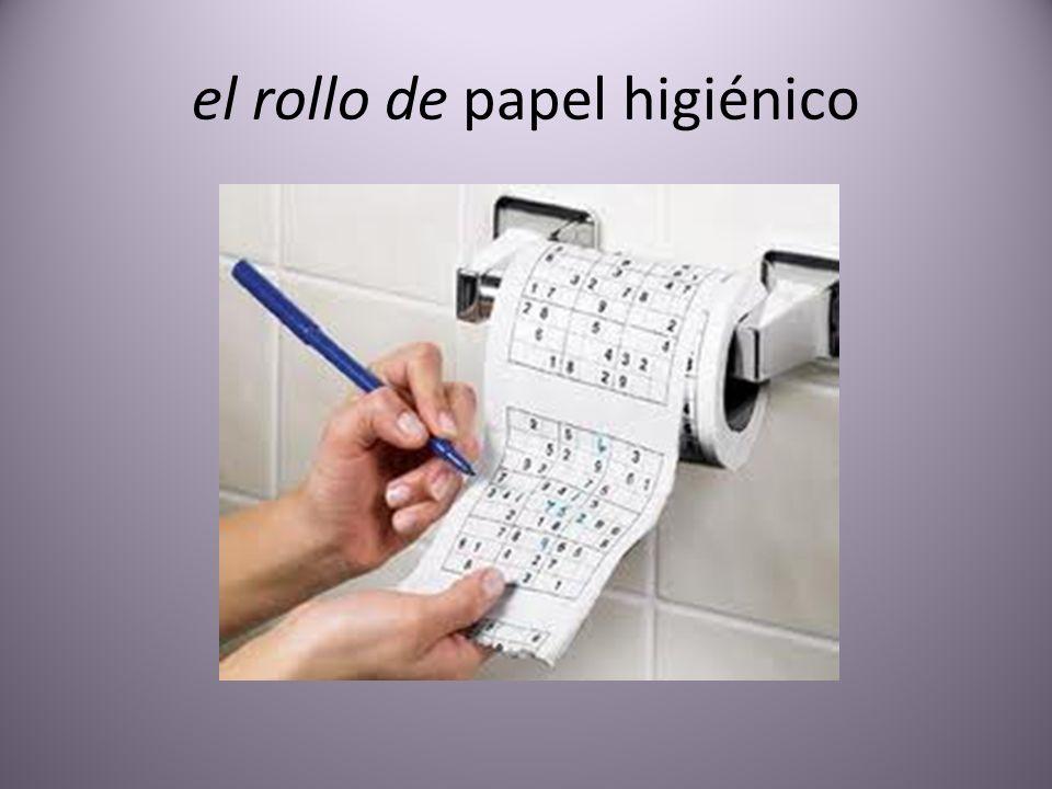 el rollo de papel higiénico