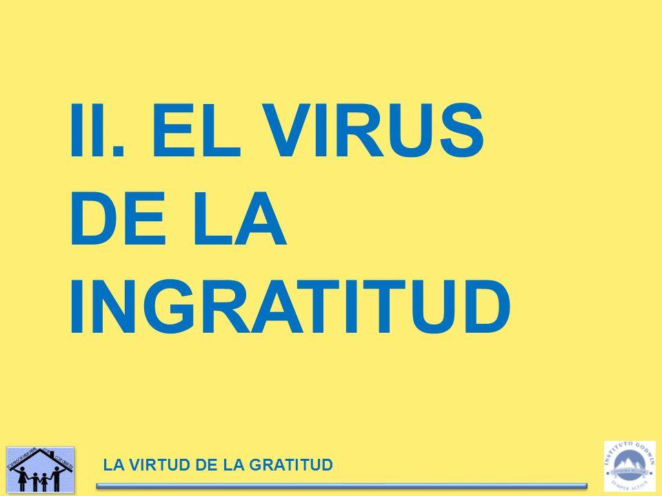 LA VIRTUD DE LA GRATITUD II. EL VIRUS DE LA INGRATITUD