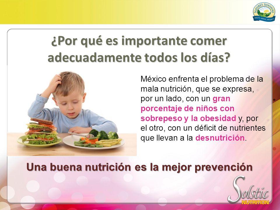 ¿Por qué es importante comer adecuadamente todos los días? México enfrenta el problema de la mala nutrición, que se expresa, por un lado, con un gran