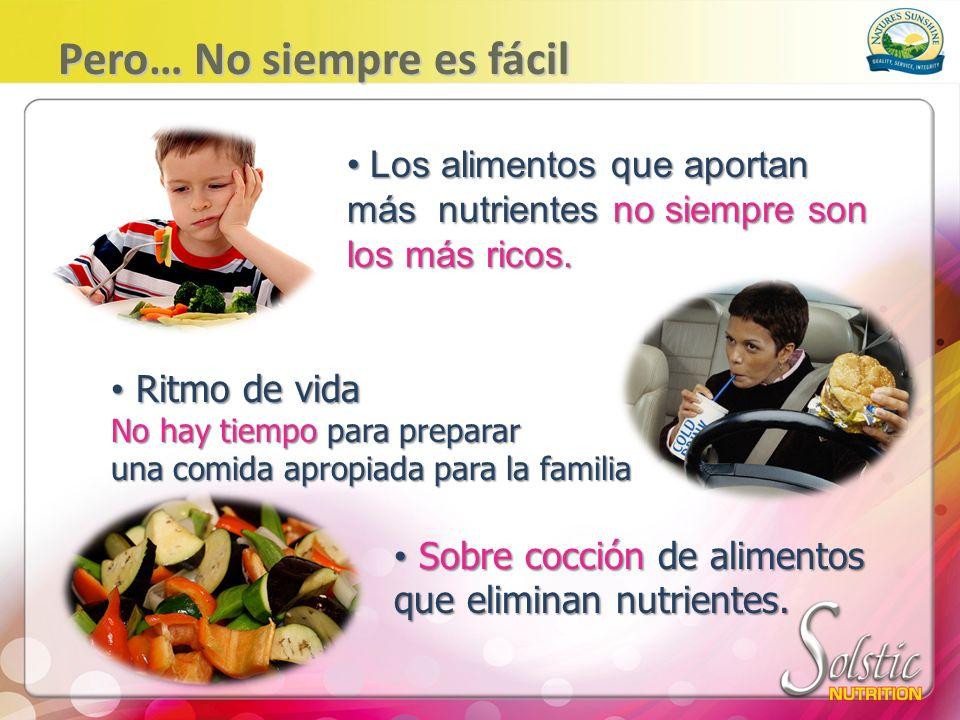Los niños estas expuestos a publicidad y comidas cero nutritivas Las escuelas no siempre Las escuelas no siempre ofrecen alimentos nutritivos.