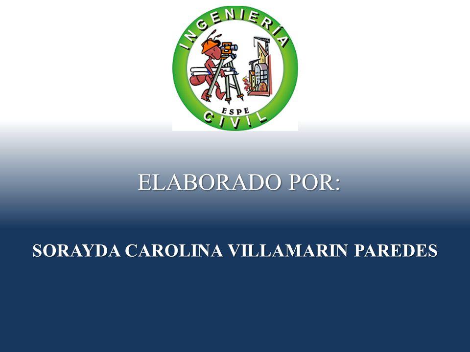 SORAYDA CAROLINA VILLAMARIN PAREDES ELABORADO POR: