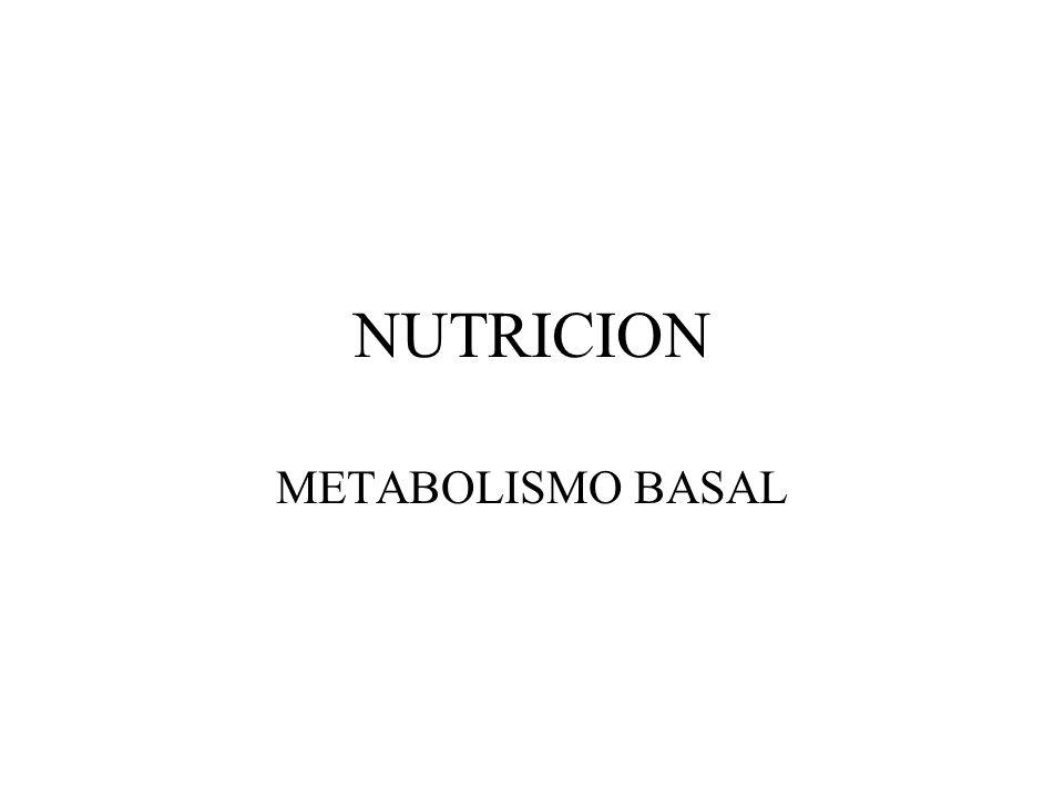 NUTRICION METABOLISMO BASAL