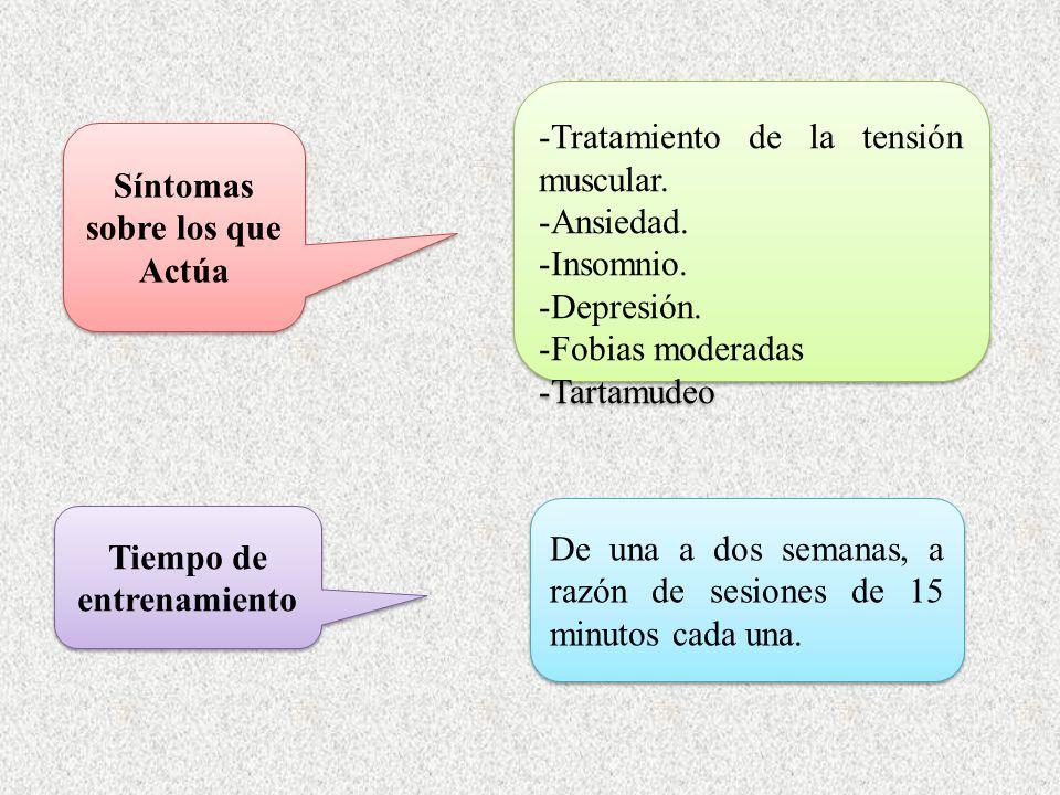 Síntomas sobre los que Actúa -Tratamiento de la tensión muscular.