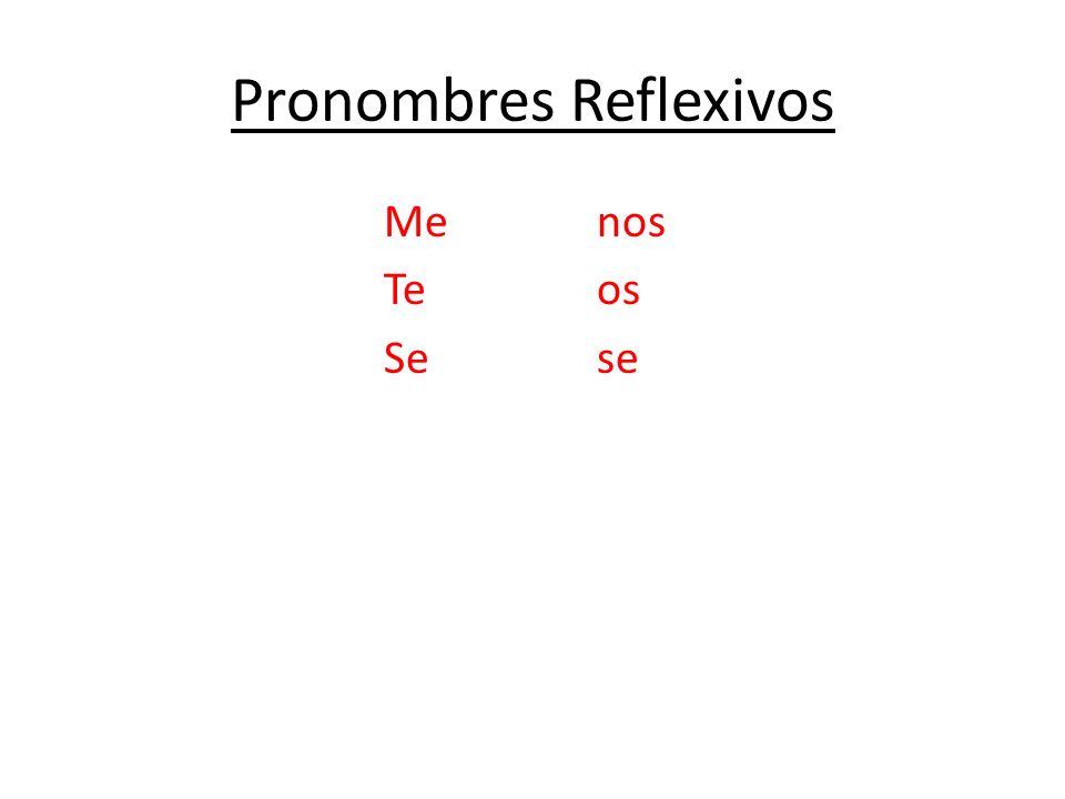 Pronombres Reflexivos Menos Teos Sese