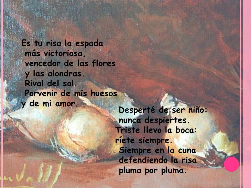 C ONCLUSIÓN Nos parece muy triste el poema ya que trata de la realidad, pero es muy bonito a la vez.