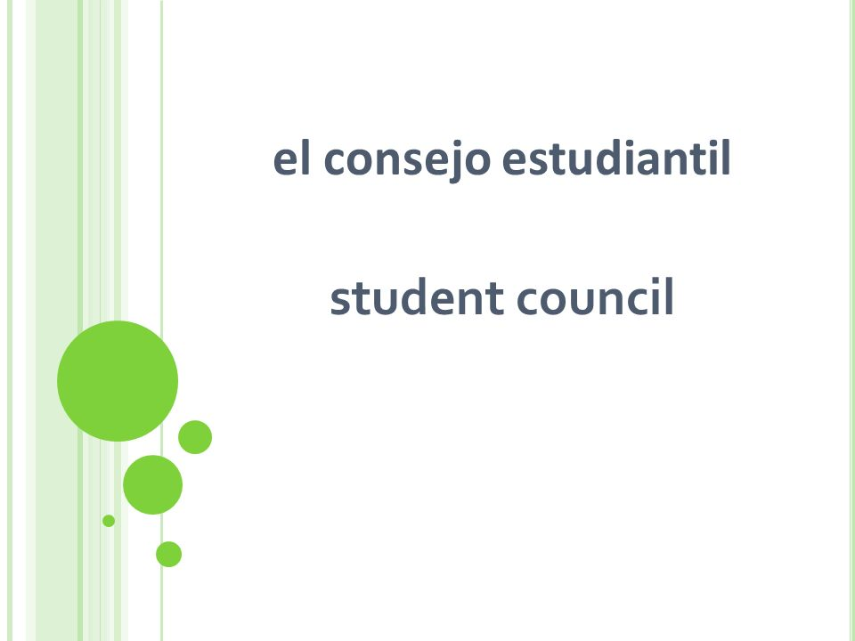 el consejo estudiantil student council