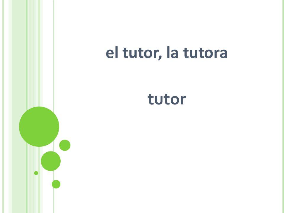 el tutor, la tutora tutor
