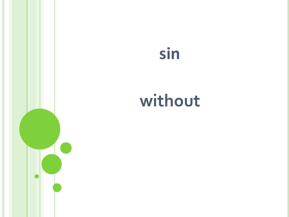 sin without