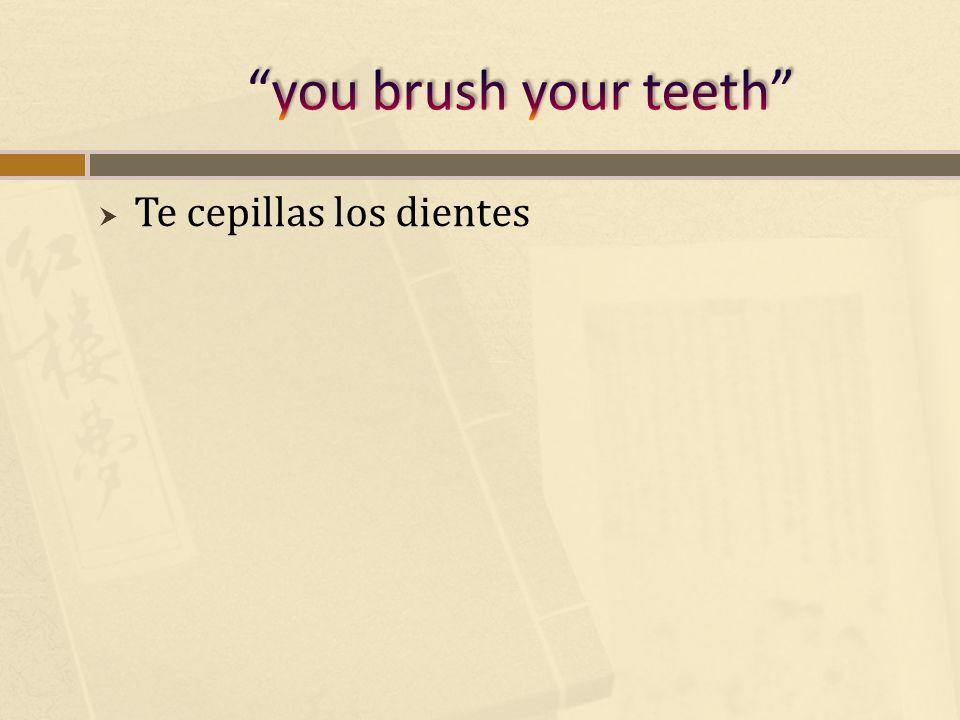 Te cepillas los dientes