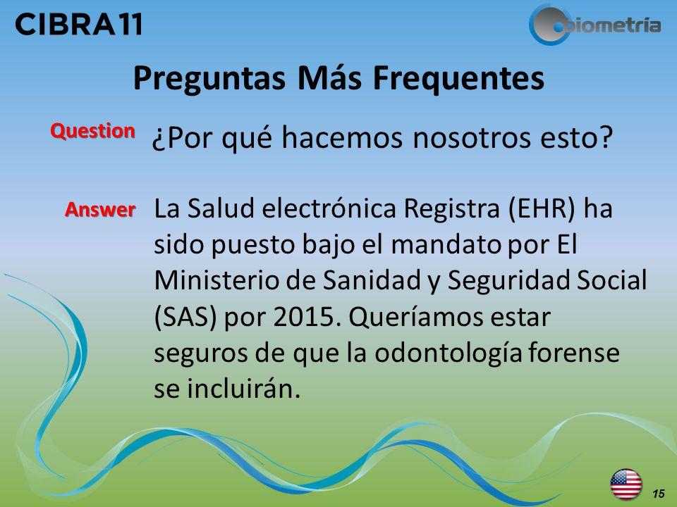 ¿Por qué hacemos nosotros esto? Preguntas Más Frequentes La Salud electrónica Registra (EHR) ha sido puesto bajo el mandato por El Ministerio de Sanid