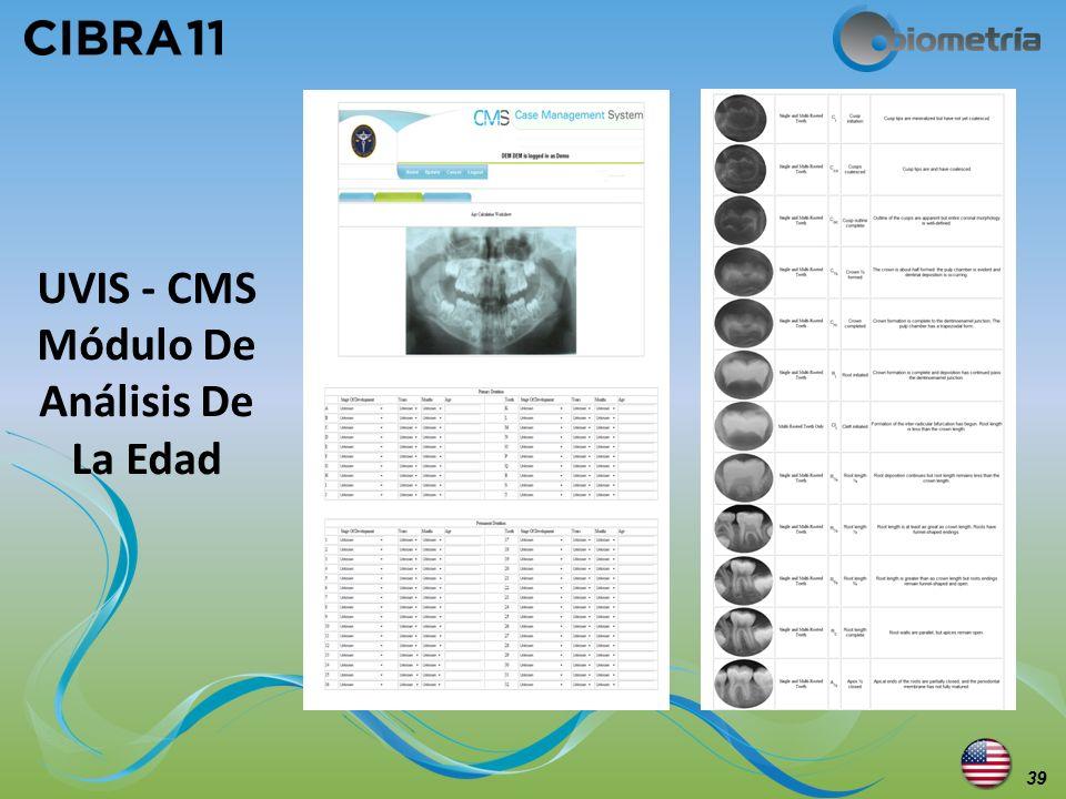 UVIS - CMS Módulo De Análisis De La Edad 39