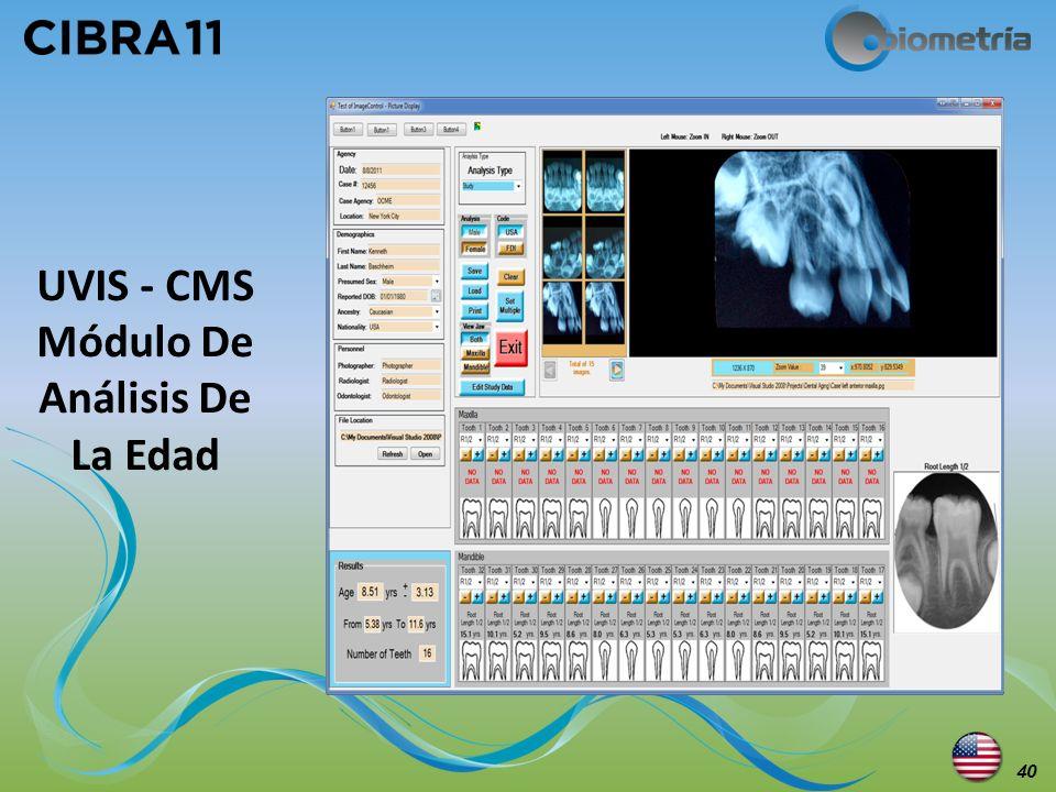 UVIS - CMS Módulo De Análisis De La Edad 40