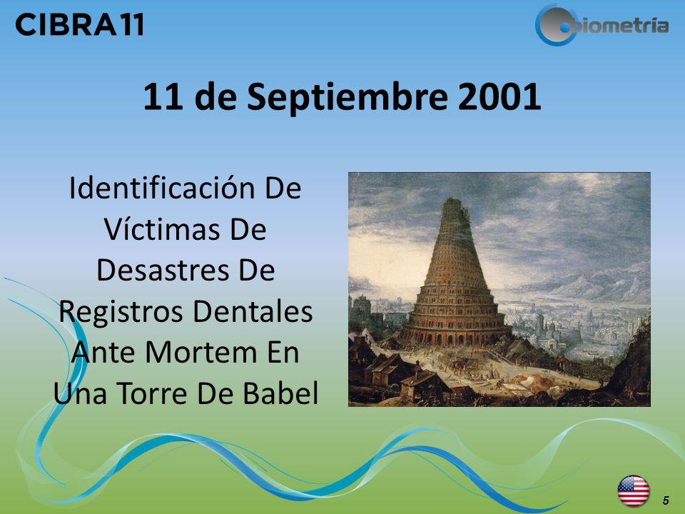 11 de Septiembre 2001 Identificación De Víctimas De Desastres De Registros Dentales Ante Mortem En Una Torre De Babel 5