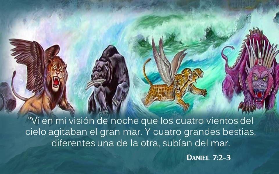 Daniel 7:4 La primera era como un león, y tenía alas de águila.