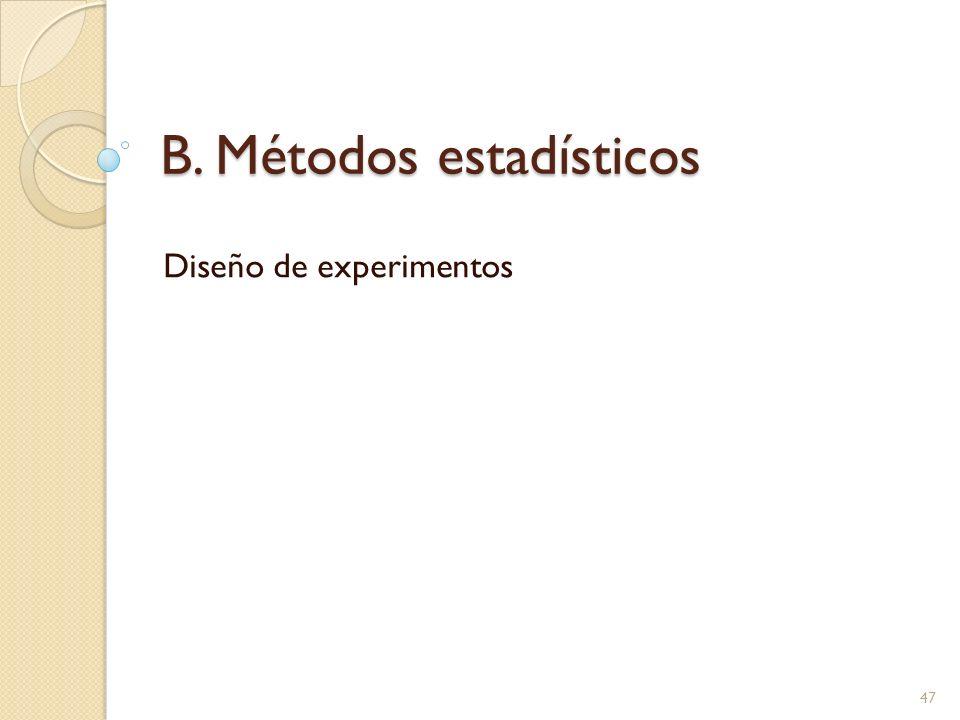 Diseño de experimentos 48 Es una prueba o serie de pruebas donde se inducen cambios deliberados en las variables de entrada de un proceso, para observar su influencia en la variable de salida o respuesta