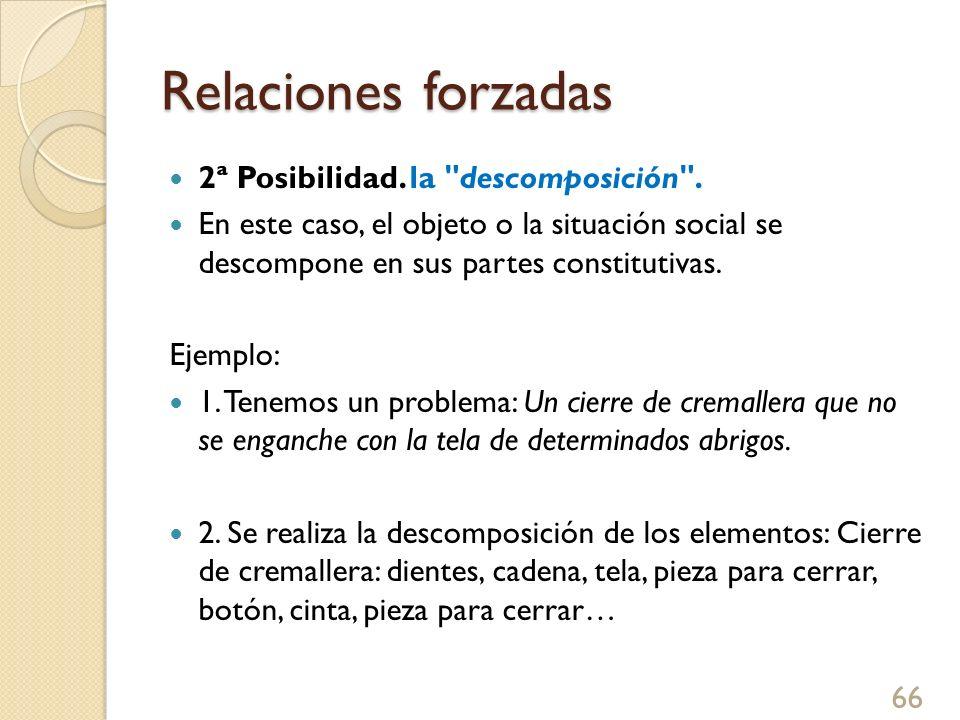 Relaciones forzadas 3.