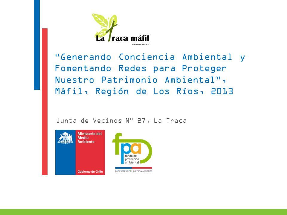 Generando Conciencia Ambiental y Fomentando Redes para Proteger Nuestro Patrimonio Ambiental, Máfil, Región de Los Ríos, 2013 Junta de Vecinos N° 27,