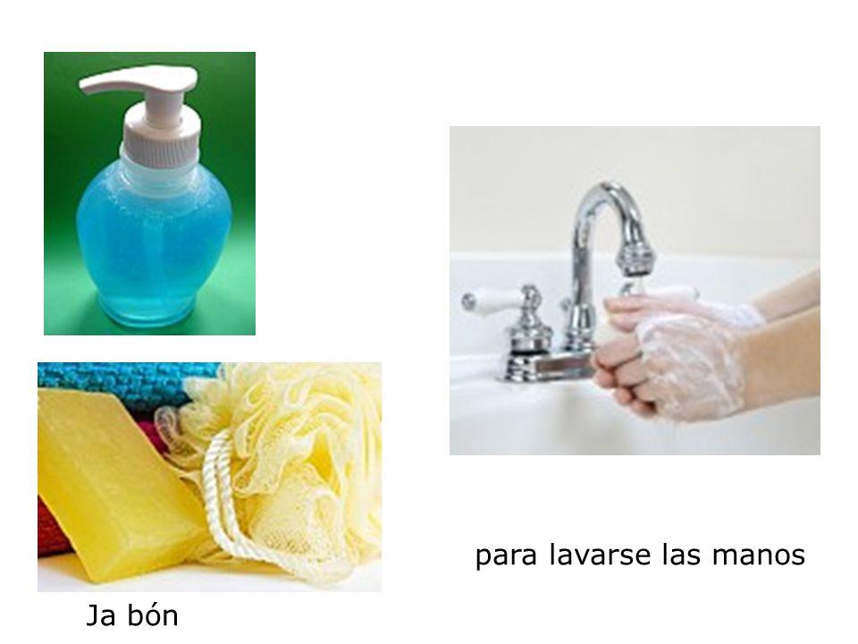 Ja bón para lavarse las manos