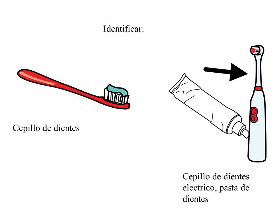 Cepillo de dientes Cepillo de dientes electrico, pasta de dientes Identificar: