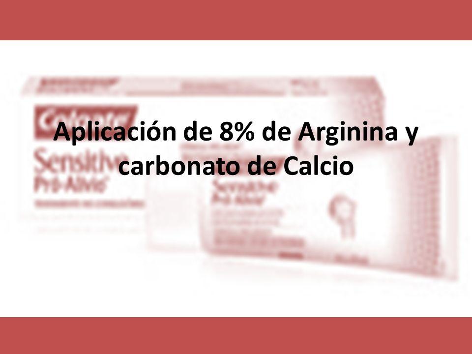 Aplicación de 8% de Arginina y carbonato de Calcio