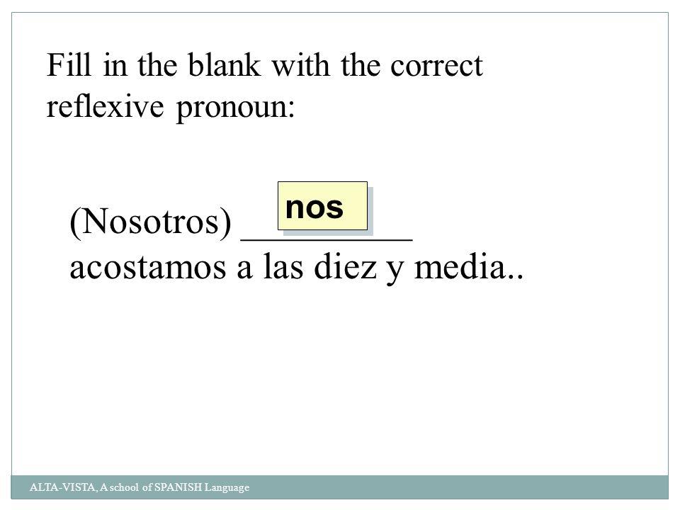 Fill in the blank with the correct reflexive pronoun: _________ lavas las manos antes de comer.