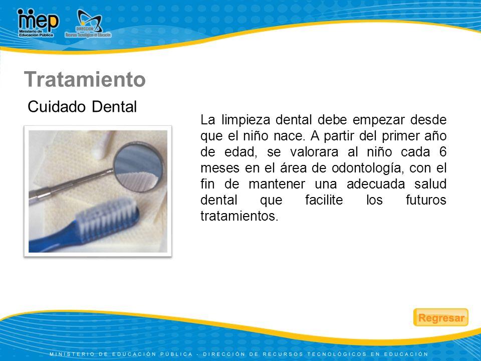 La limpieza dental debe empezar desde que el niño nace. A partir del primer año de edad, se valorara al niño cada 6 meses en el área de odontología, c