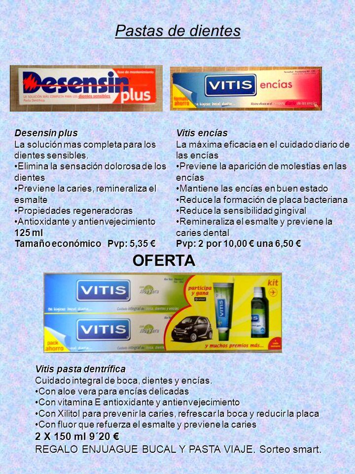Pastas de dientes Desensin plus La solución mas completa para los dientes sensibles.