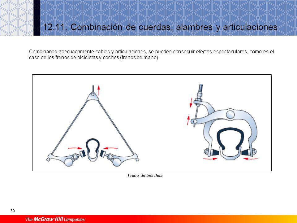 30 12.11.Combinación de cuerdas, alambres y articulaciones Freno de bicicleta.