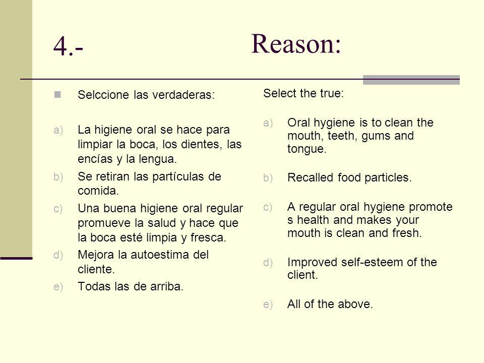 5.- Durante el cuidado personal, observe cualquier problema o cambio que se haya presentado.