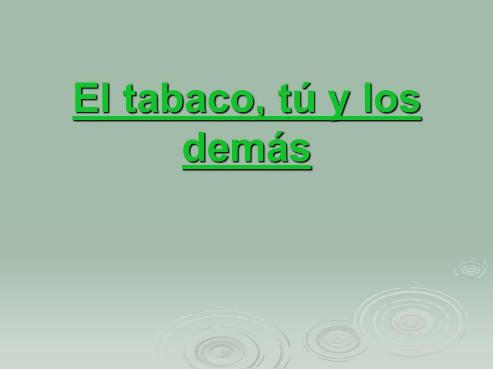 El tabaco, tú y los demás